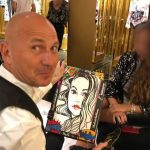 monaco portraitist, caricaturist, monte-carlo, walk-about, walk around, store, entertainment, performer, artist, painter